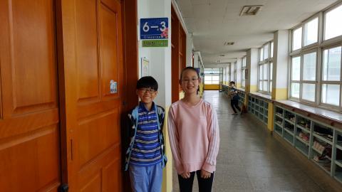 소프트웨어 수업이 너무 재미있다고 즐겁게 말하는 정진우(왼쪽), 김나현(오른쪽)학생 ⓒ김지혜/ ScienceTimes