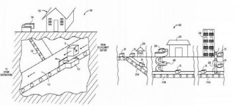 아마존이 특허 출원한 지하 터널 배송 개념도 ⓒ 아마존