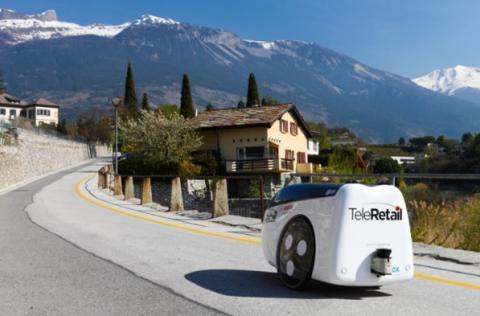 스위스 로봇업체 텔레리테일은 최장 80km까지 자율주행하는 장거리 로봇을 개발했다. ⓒ 텔레리테일