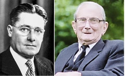 1941년 페니실린 대량 생산을 위해 미국으로 건너간 영국 과학자 하워드 플로리(왼쪽)과 노먼 히틀리 박사. Credit : Wikimedia / Oxford Mail
