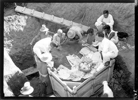 1936년 은허에서의 발굴 현장 모습. ⓒ 위키미디어 Public domain