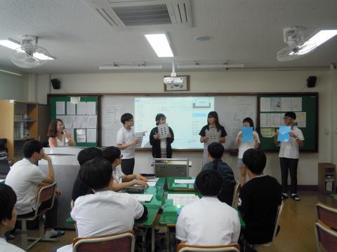 소프트웨어 수업을 하고 있는 광평중학교 학생들. ⓒ 김지혜/ScienceTimes