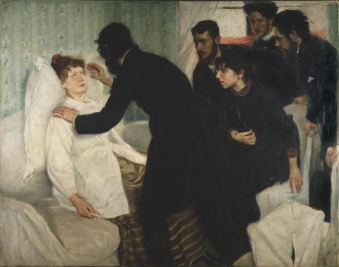 뇌과학을 통해 최면치료의 효과가 확인되면서 메이오 클리닉 등 유명 소아과병원들이 최면요법을 정식 치료과목으로 채택하고 있다. 사진은 19세기 스웨덴 화가 리카르드 베르그가 그린 최면치료 장면. ⓒWikipedia