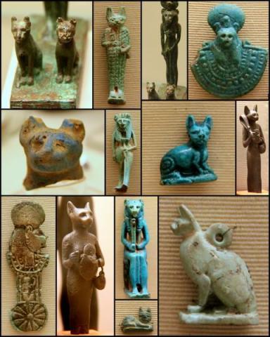 살쾡이와 같은 야생동물에서 지금의 귀여운 고양이로 변하기까지 이집트인들의 공로가 매우 큰 것으로 최근 유전자분석 결과 밝혀지고 있다. 이집트인들은 고양이를 매우 사랑해 신적인 지위까지 올려놓았다.  ⓒancient.eu