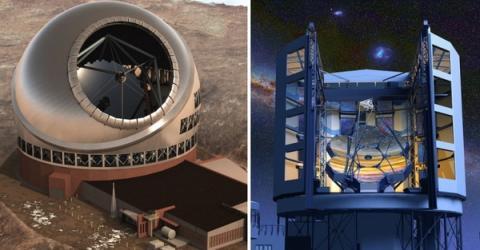 거대 망원경인 TMT(좌) GMT 상상도 ⓒ NASA