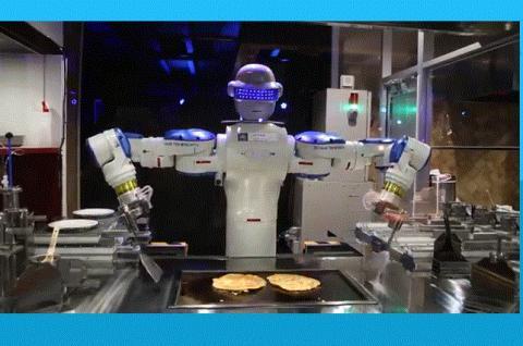 헨나호텔 레스토랑에서 일하는 '오코노미야끼' 쉐프 로봇.