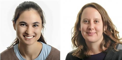 연구를 수행한 자넬리아 연구그룹 크리스틴 브랜슨 박사(왼쪽)와 앨리스 로비 연구원. Credit : Branson Lab / HHMI Jamelia