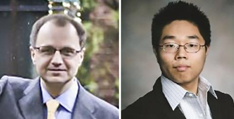연구를 수행한 시카고대 안드레이 레츠키 교수(왼쪽)와 논문 제1저자인 캐닉스 왕 박사과정생. Credit : The Univ. of Chicago / LinkedIn