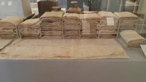 이집트 미이라의 상징이 된 린넨 붕대(아마포). 뉴욕 메트로 박물관.  ⓒ 박지욱