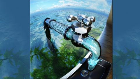 바닷물을 걸러주는 탄소나노튜브의 예술적인 개념도 ⓒ LLNL