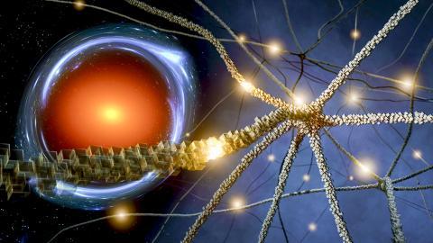 KIPAC 과학자들은 중력 렌즈라고 불리는 시공간의 복잡한 왜곡을 분석하기 위해 처음으로 인공 신경망을 사용해 이 방법이 기존의 분석방법보다 1000만 배 더 빠르다는 것을 입증했다. Credit: Greg Stewart/SLAC National Accelerator Laboratory