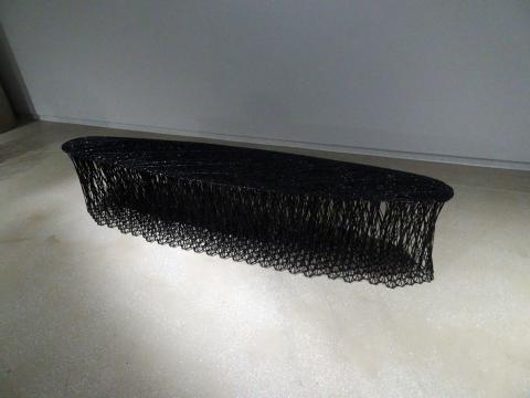 프랑스 퐁피두 센터가 소장한 작품 라미벤치를 재구성한 작품. Rami Bench Seoul, 2017. (Carbon fiber, W37 x L200 x H45 cm) ⓒ 김은영/ ScienceTimes