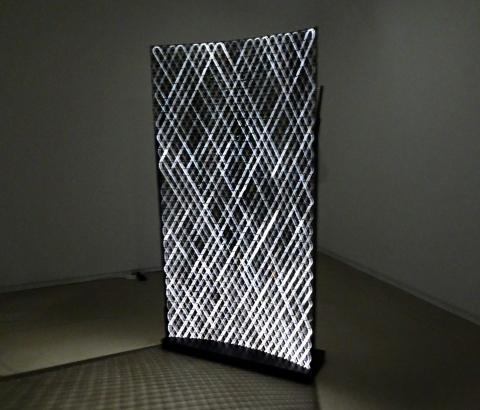 탄소섬유를 가지고 전통공예 방식으로 제작한 조명 스크린, 노두스(Nodus). ⓒ 김은영/ ScienceTimes