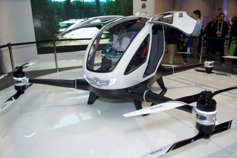 지난해 미국 CES에 출품된 유인 드론 'EHANG 184'.