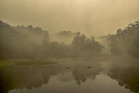 뮬의 기화·액화 현상을 이용해 만든 발전기가 등장해 큰 주목을 받고 있다. 호수나 저수지 수면 위에서 발생하는 증발 및 액화 현상을 통해 대량 전기생산이 가능하다.  ⓒ ScienceTimes / 이강봉 기자