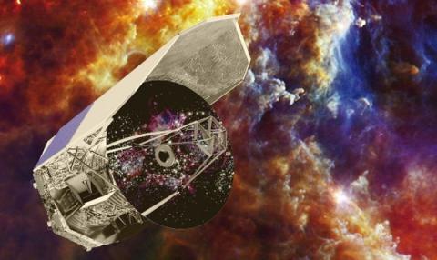 관측하고 있는 허셜 우주망원경의 상상도 ⓒ space.com