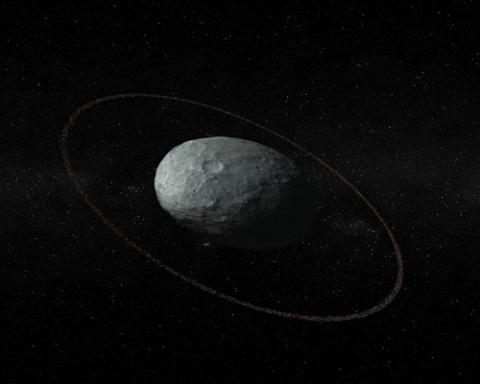 왜행성 하우메아와 고리를 표현한 그림. ⓒ IAA-CSIC/UHU