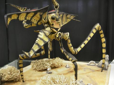 영화 스타쉽 트루퍼스에 나오는 거대곤충의 미니어처. ⓒ Klapi