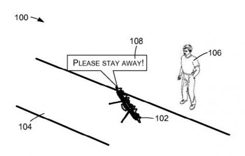 아마존의 음성 지원 드론 특허. ⓒ 미 특허청