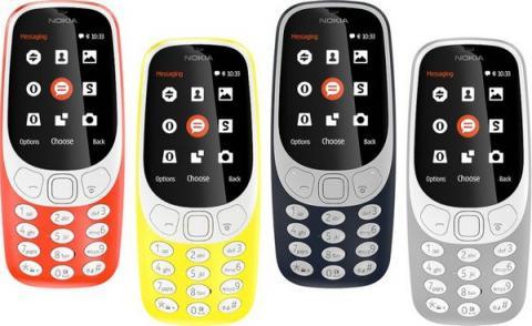 레트로 마케팅으로 휴대폰 시장에 돌풍을 일으키고 있는 노키아의 3310 모델 ⓒ NOKIA