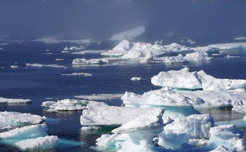 지난 1500년 동안을 기준으로 할 때 2000년 이후 북극 해빙(海氷)의 녹는 속도가 가장 빠른 것으로 나타났다. ⓒ Public Domain