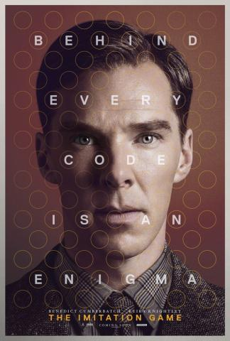 앨런 튜링을 주인공으로 다룬 영화 이미테이션 게임의 포스터. ⓒ 위키백과
