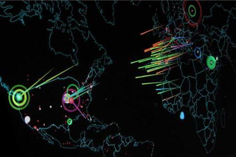 국가 간에 일어나는 사이버 공격 현황 모습.  ⓒ Flickr