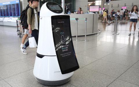 공항에서 안내를 맡은 자율주행 로봇. ⓒ https://blog.naver.com/lg-bestshop
