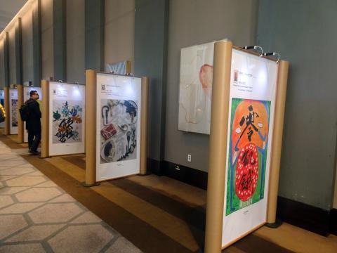 포럼 기간 동안 행사장에는 '평화'를 주제로 만들어진 예술 작품들이 전시된다. 작품들은 예술을 통해 UN의 목표와 평화를 세계에 알린다는 취지를 가졌다. ⓒ김은영/ ScienceTimes