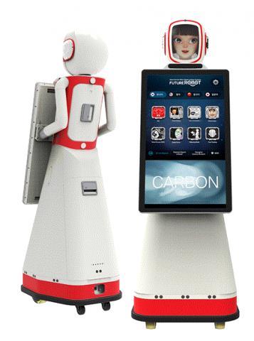 평창 동계올림픽을 4개 국어로 안내하는 안내로봇. ⓒhttp://www.futurerobot.com