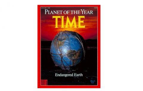 1988년 타임지 커버. 그 해 가장 인상적인 이슈와 인물을 꼽는 타임지 표지 모델에 지구가 선정됐다. ⓒ http://content.time.com