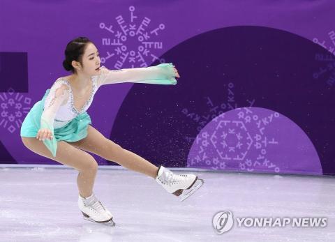11일 오전 강릉아이스아레나에서 열린 2018 평창동계올림픽 피겨 팀이벤트 여자 싱글 쇼트 프로그램에서 최다빈이 연기를 펼치고 있다. 최다빈은 65.73으로 시즌베스트를 기록했다.