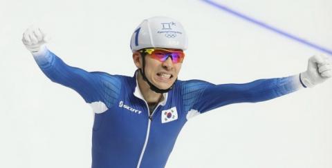 신설 종목인 매스스타트에서 초대 챔피언이 된 이승훈 선수 ⓒ 평창올림픽조직위