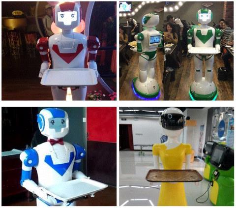 여러 종류의 서비스 로봇이 알리바바 등 중국 커머스 사이트에서 거래되고 있다. 이런 서비스 로봇은 중국에서 쉽게 볼 수 있다. ⓒ alibaba.com