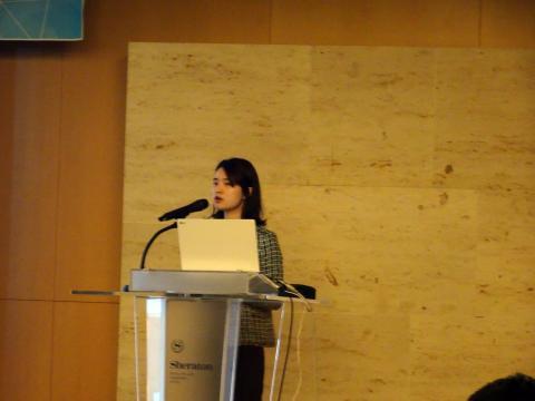 17일 레나 린 엔오션 매니저가 대도시 오피스와 주거단지, 공항, 공장 등에 사물인터넷 설비가 개조되어 들어간 혁신 사례를 설명하고 있다. ⓒ 김은영/ ScienceTimes