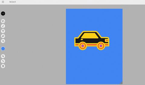 구글의 오토드로우로 만든 최종 이미지. 가장 알맞는 이미지를 저장해 채색까지 일사천리로 마칠 수 있다. ⓒ https://www.autodraw.com/