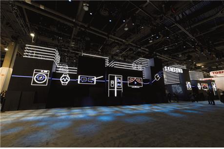 CES 2018에서 선보인 '삼성시티' 전시회 모습 ⓒ 삼성전자