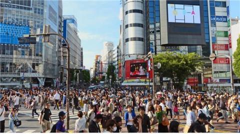 천만 명이 넘는 도쿄시의 도로 한복판 모습 ⓒ Max Pixel