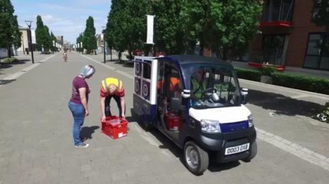 자율 주행 배송 트럭인 카고팟