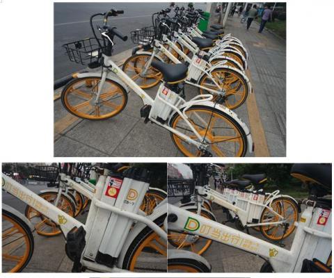 이달 초 서비스를 시작한 띵땅추싱의 공유 전기 자전거. ⓒ 임지연/ScienceTimes