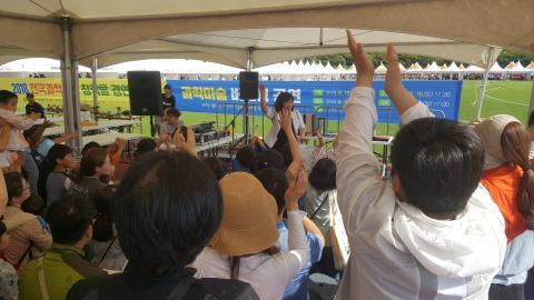 제19회 제주과학축전에는 과학마술 버스킹 공연이 진행되어 인기를 모았다. ⓒ 김지혜/ScienceTimes