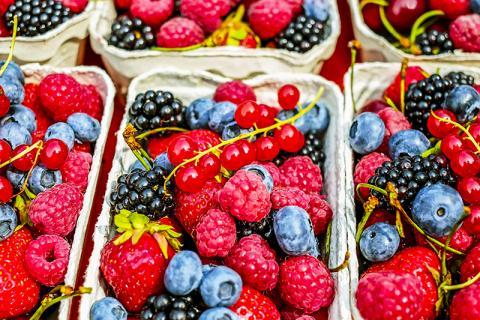 항산화효과가 있는 것으로 알려진 딸기와 블루베리,  라스베리 등 각종 베리류는 파킨슨병 위험도 줄이는 것으로 나타났다.  ⓒ Pixabay