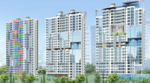 바람길을 건물에 형성한 미래형 공동주택 모델 ⓒ 국토교통부