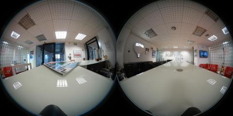 360도 VR로 보는 사무실의 풍경. 현실에서의 공간과 VR에서의 공간은 다르게 보인다. ⓒ ScienceTimes
