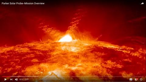 각종 에너지 입자와 전자기장이 방출되는 태양의 표면 모습. 동영상 캡처. CREDIT: NASA's Goddard Space Flight Center