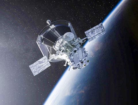 지구를 떠나는 NASA의 파커 태양 탐사선 상상도.  CREDIT: NASA/Johns Hopkins APL/Steve Gribben