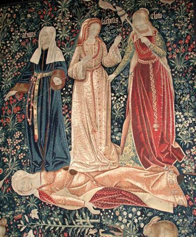 모이라이 여신이 한 여인의 삶과 죽음을 결정한다. 좌로부터 아트로파, 라케시스, 클로토. ⓒ 위키백과 자료