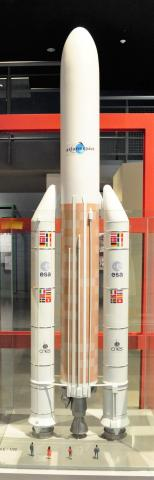 아리안 5호 로켓 모형. 제주항공우주박물관.  ⓒ 박지욱 / ScienceTimes