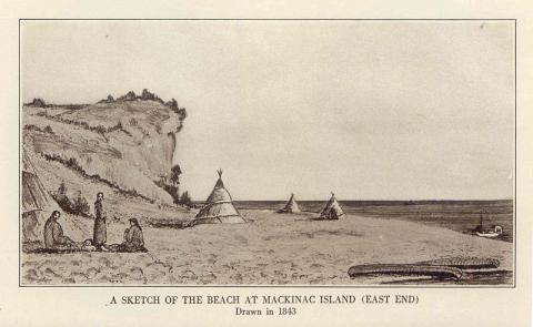 1840년대 매키노섬의 모습 ⓒ Free photo