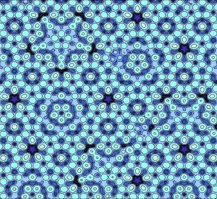 셰흐트만 박사는 이처럼 반복 구조가 결여된 준결정 물질을 발견한 공로로 노벨 화학상을 수상했다. ⓒ Public Domain